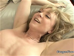 killer Nina Hartley deep throats everything out of my youthful trouser snake