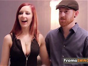 bashful redheads engage in steaming act with other swingers