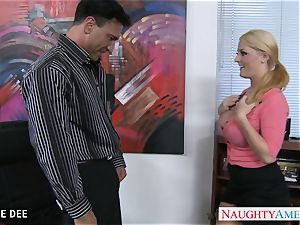 awesome Sophie Dee smashing in the office
