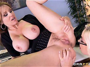 boss Julia ann tears up her fabulous assistant Olivia Austin