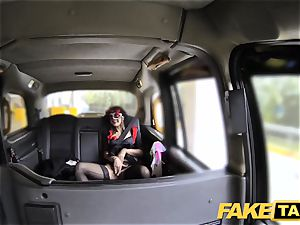 fake taxi gal in mask gets nailed in the donk