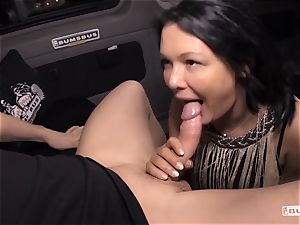 donks BUS - Bus pulverize and facial cumshot with chesty German mummy
