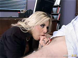 steaming Headmistress Britney Shannon gets her forearms on a nasty student