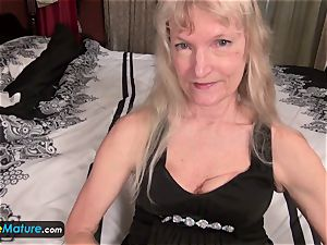 EuropeMature elderly granny Cindy gone too crazy
