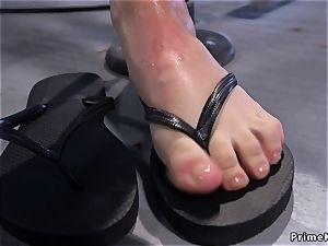 petite mounds blonde rides sybian saddle and finishes off