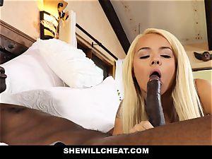 SheWillCheat cuckold wifey absorbs dark-hued boner