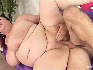 large titted bbw damsel Lynn takes giant prick