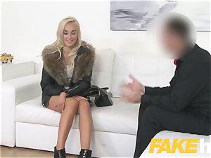 faux Agent european woman likes providing melon jerk and deep throat