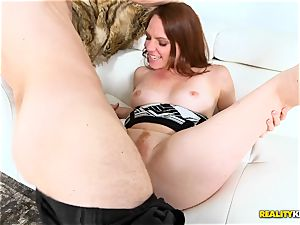 naughty owned Kassondra Raine bellows for more man meat