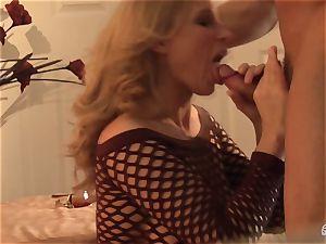 Devon Lee bopping the rock-hard bishop of her fucking partner