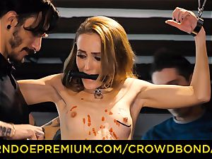 CROWD bondage smallish sub nymphomaniac fetish group sex