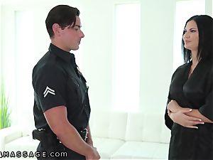 NuruMassage british milf Jasmine Jae tempts Cop
