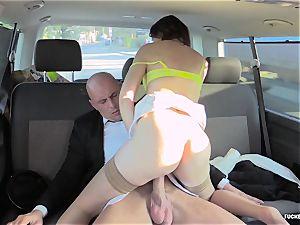FuckedInTraffic - Meggie Marika torn up in the car