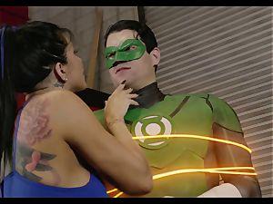 Superhero League. Part 1 Green Lantern and princess Diana