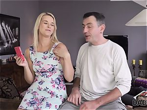 DADDY4K. daddy and youthfull damsel love buttfuck hump near his sleeping son-in-law
