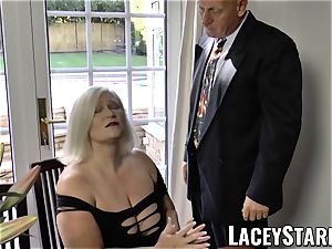 LACEYSTARR - naughtiest granny analled before jizz shot