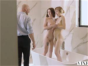 VIXEN nymphomaniac Has steamy lovemaking With 2 Strangers
