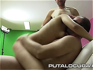 rosy haired nymph gets gangbanged