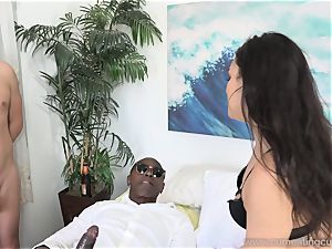 Paisley Parker Gets black trouser snake and spouse licks Up jizz