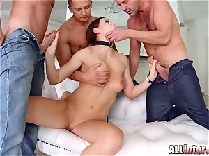 Tina Kay anal invasion gang-bang internal ejaculation on All inward part 1