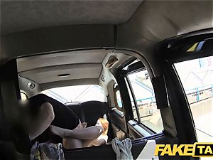 faux taxi redhead gets messy with future sugar daddy