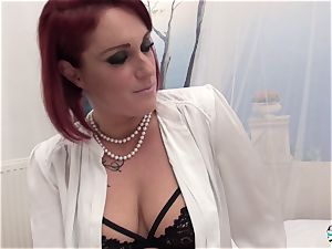 La Cochonne - amateur French ginger-haired in dirty anal invasion smash