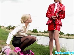 hilarious european female domination Cayla Lyons footjob fun