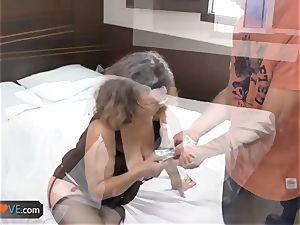 AgedLovE Latina chubby grandmother fuckin' twunk