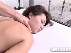 Roxy Dee sexually aroused with a magic wand wails quitely
