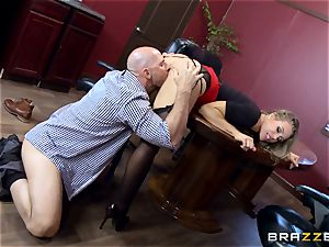 super-hot chief Nicole Aniston taking a massive man-meat in the office