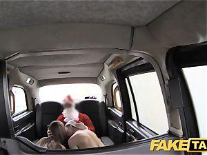 faux taxi Xmas theme sensational santa assfuck pulverizes 2 elves