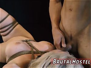Monster cruelly anal invasion and bondage & discipline boink Big-breasted light-haired sweetie Cristi Ann is on