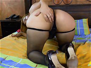LatinChili big-titted Mature Karina Solo masturbation