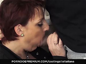 casting ALLA ITALIANA Mature sandy-haired donk fucked deep