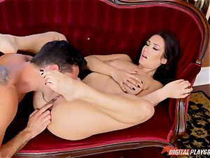 brown-haired ultra-cutie Eva Lovia bashed deep with hard-on