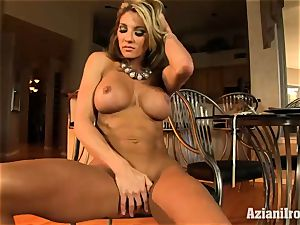 rigid bodied Abby flashes off her rocking body