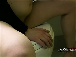 Russian red-haired bj's ball-sac deep throat in hotel gloryhole