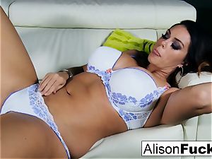 Alison Tyler showcases off her forms and makes herself jism