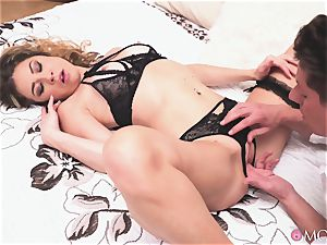 creampie for a horny light-haired