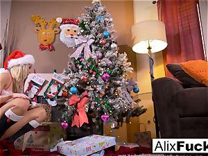 Christmas lezzy romp inbetween two scorching women