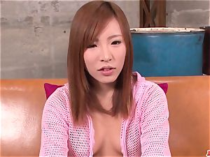 gorgeous audition for pornography hard-core play along super-hot Yuika Aki