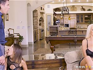 cumswapping hotties Adriana Chechik and Nicolette Shea romped deep